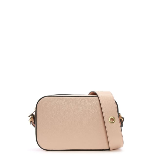 Meet Pink Leather Mini Grommet Cross-Body Bag
