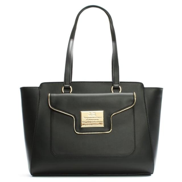 Love Moschino Mel Black Front Pocket Tote Bag