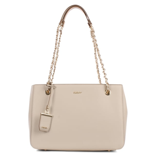 Mel Chino Leather Chain Handle Shopper