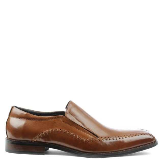 Melbury Tan Leather Slip On Stitch Loafer