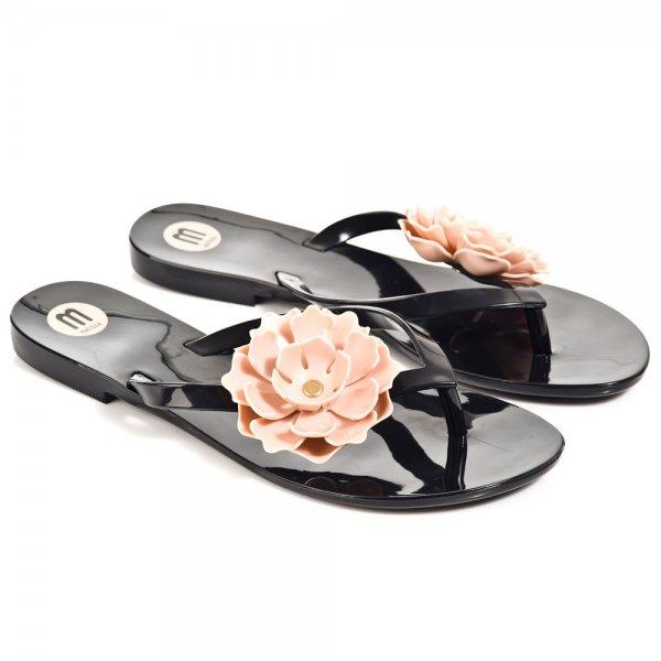 7340784a9091c Melissa Black Harmonic Flower Women s Flip Flop