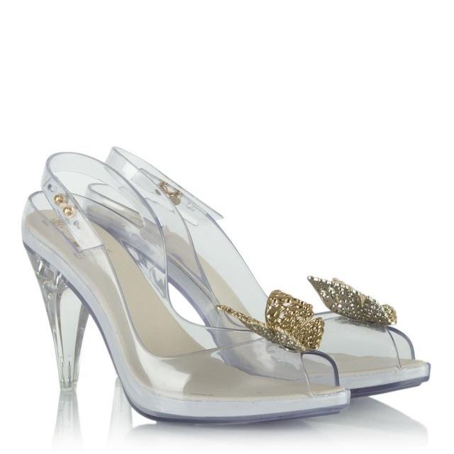 Cinderella Lady Dragon Clear   039 Glass Slipper  039  Sling Back Heel