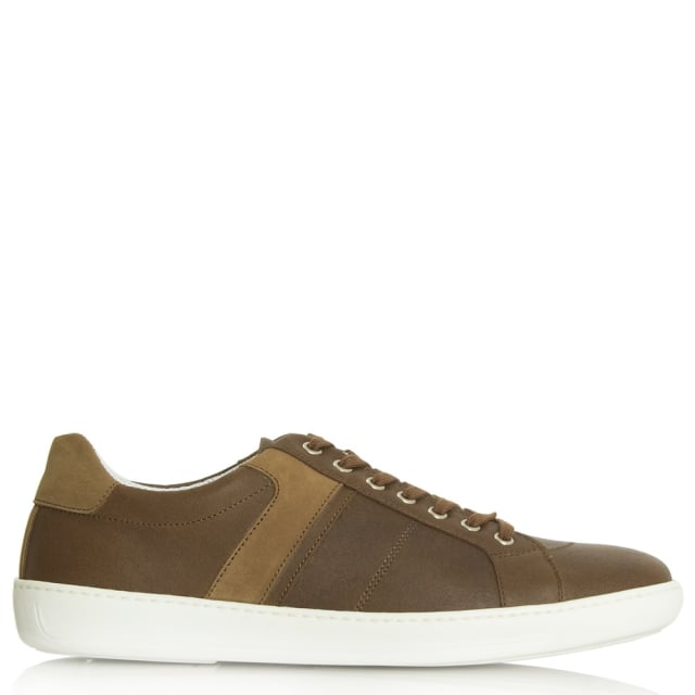 Melksham Tan Leather Lace Up Trainer