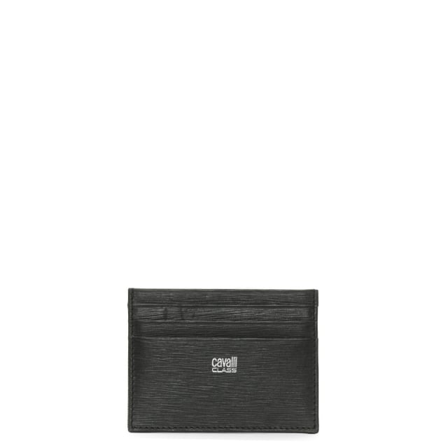 Men's Black Leather Textured Card Case