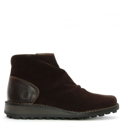 Men's Merk Expresso Suede Rouched Ankle Boots