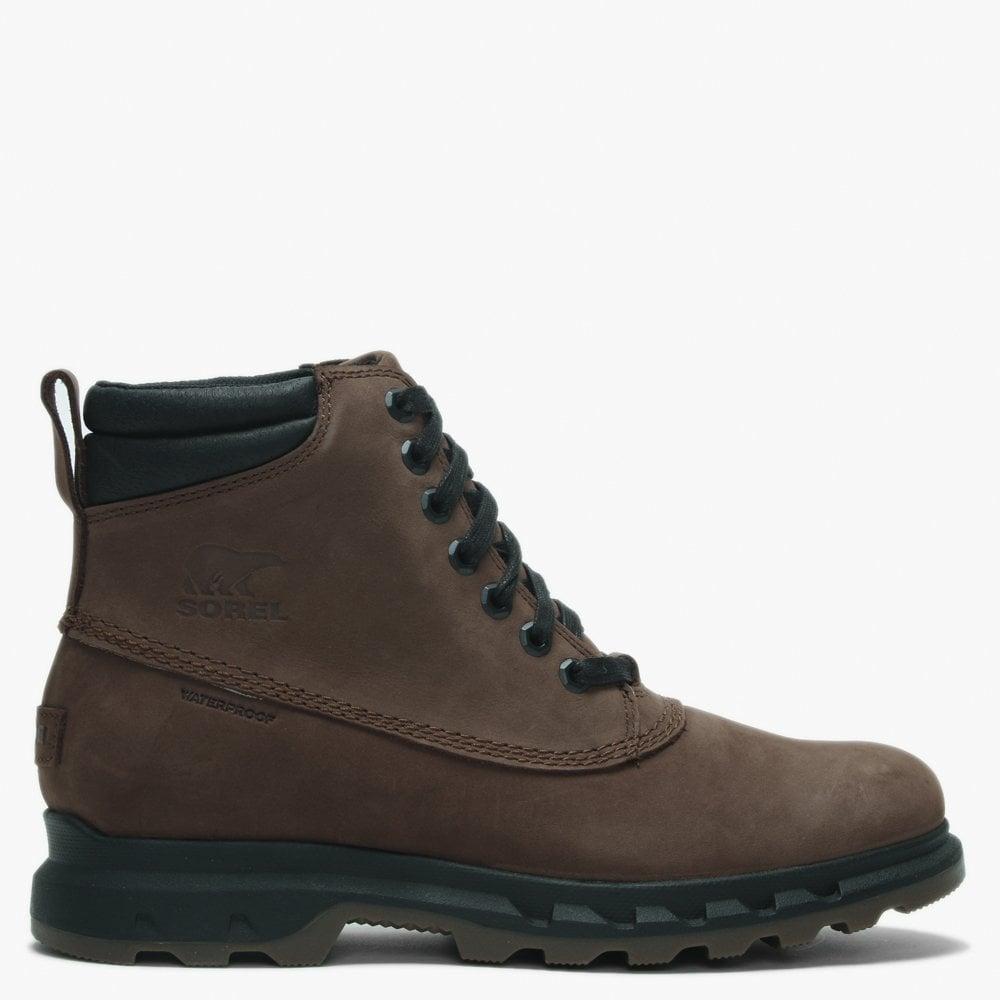 4b0ce518192 Men's Portzman Tobacco & Black Nubuck Worker Boots