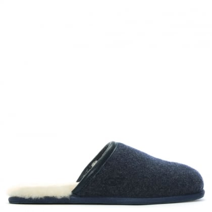 Men's Scuff Novelty New Navy Slippers