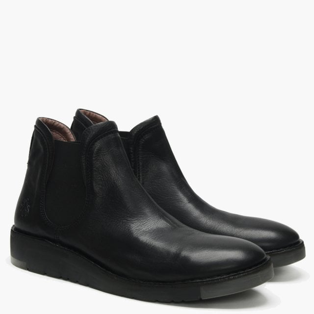 fbba2ce45 Fly London Men's Sern Black Leather Modern Chelsea Boots