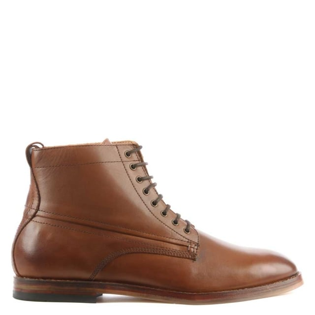 Men's Forge Tan Leather Lace Up Ankle Boot