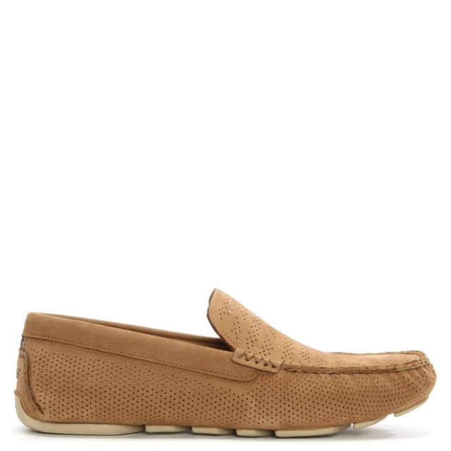 Men's Henrick Stripe Perforated Tamarind Leather Loafer