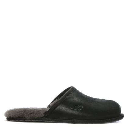 Men's Scuff Deco Black Slippers