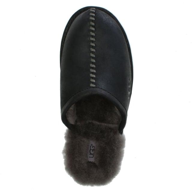 6325a4a34a2 Men's Scuff Deco Black Slippers