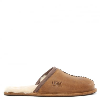 Men's Scuff Deco Chestnut Slippers