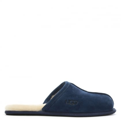 Men's Scuff New Navy Suede Slippers