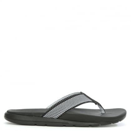 Men's Tenoch Black HyperWeave Toe Post Flip Flop