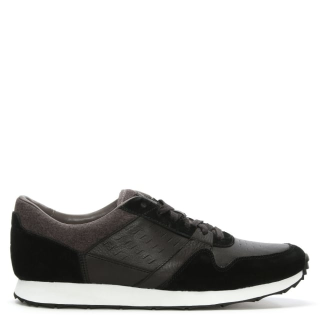 Men's Trigo Black Lace Up Trainer