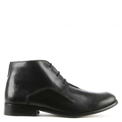 Men's Weld Black Leather Ankle Boot