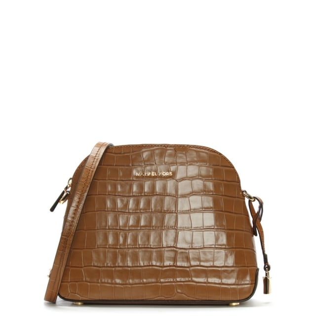Mercer Acorn Moc Croc Leather Dome Messenger Bag
