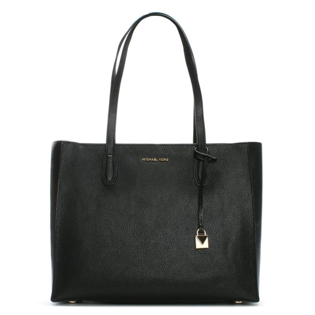 Mercer Black Pebbled Leather Large Tote Bag