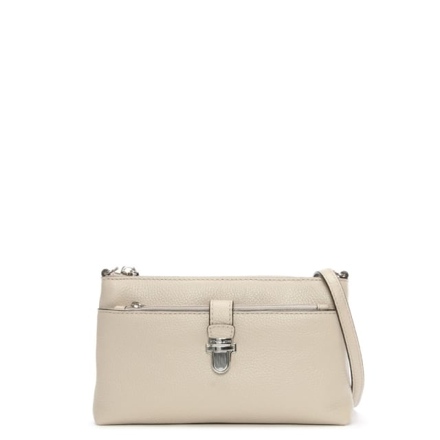 Mercer Cement Pebbled Leather Cross-Body Bag