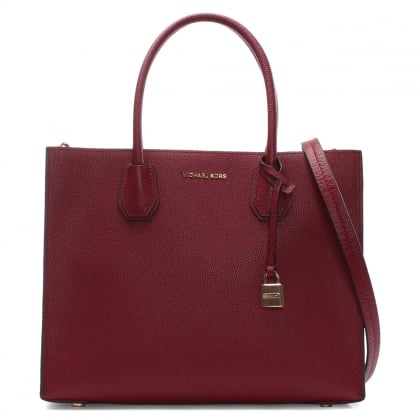 Mercer Cherry Leather Large Satchel Tote Bag