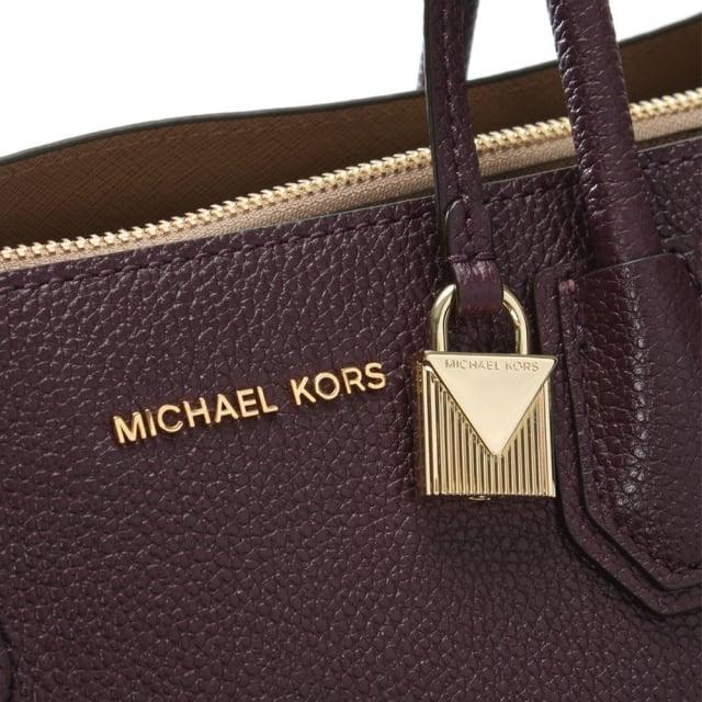 d420f7c12e0e Michael Kors Mercer Damson Leather Large Satchel Tote Bag