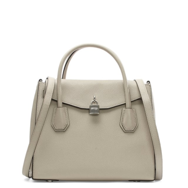 f920d14e66968f Michael Kors Mercer Large Cement Leather All In One Backpack Tote Bag