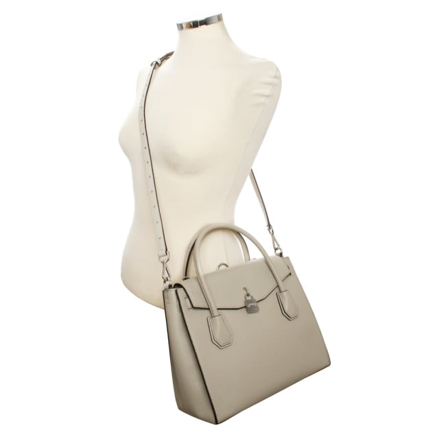4eaf3369eac8 Michael Kors Mercer Large Cement Leather All In One Backpack Tote Bag