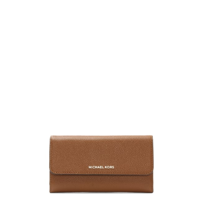 3847c9216239 Michael Kors Mercer Large Luggage Leather Tri-Fold Wallet