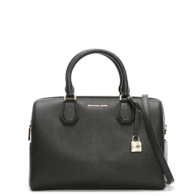 de1eac5e4056 Michael Kors Mercer Medium Black Leather Duffle Bag