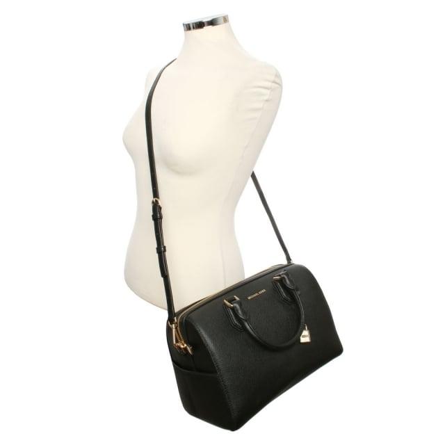 d9220f03fc Michael Kors Mercer Medium Black Leather Duffle Bag
