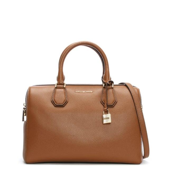 756c3fddcb Michael Kors Mercer Medium Luggage Leather Duffle Bag