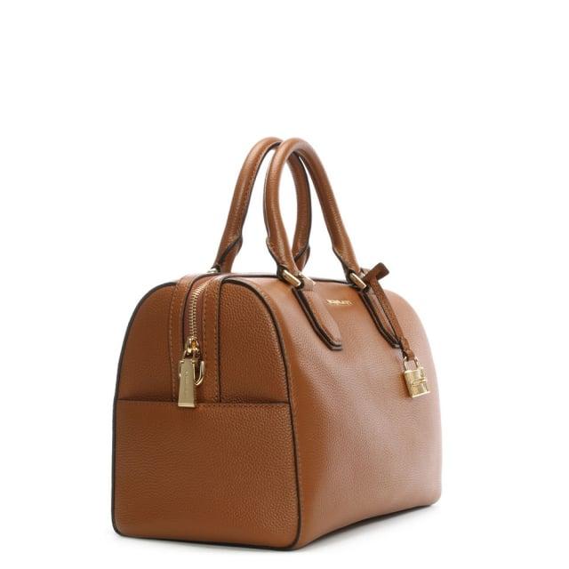 Michael Kors Mercer Medium Luggage Leather Duffle Bag 6c496dde00