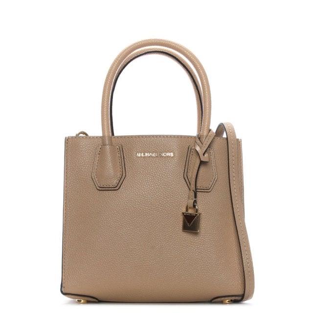 75e1f723ef Michael Kors Mercer Medium Oyster Leather Messenger Bag