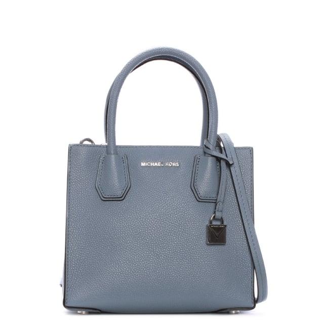 Mercer Medium Pale Blue Leather Messenger Bag