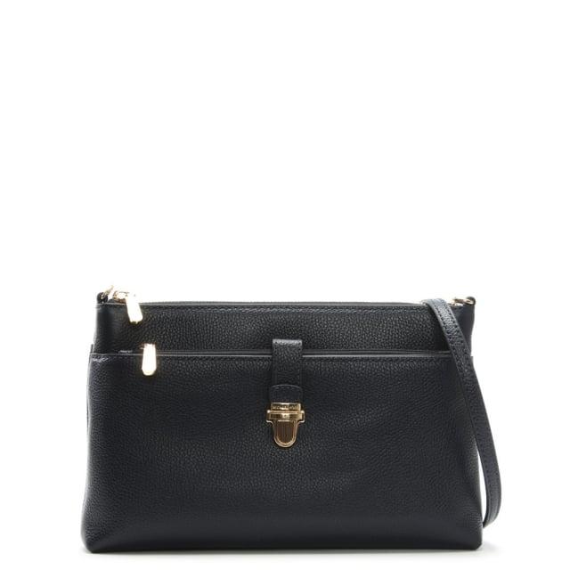01032a9b5a6e91 Michael Kors Mercer Snap Pocket Admiral Leather Cross-Body Bag