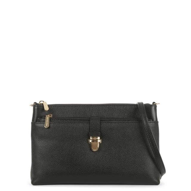 2e509d5d790344 Michael Kors Mercer Snap Pocket Black Leather Cross-Body Bag