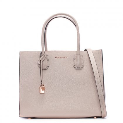 Mercer Soft Pink Leather Large Satchel Tote Bag