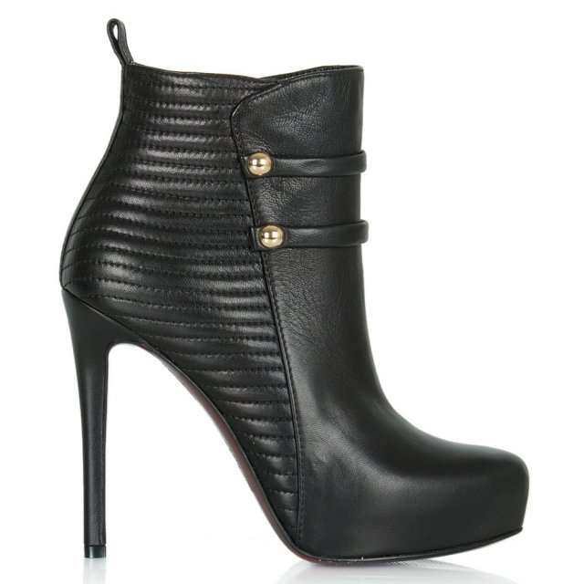 Merit Black Leather Military Ankle Boot