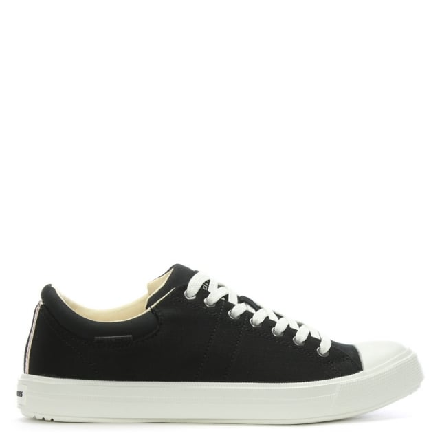 Mervin Black Canvas Lace Up Trainers