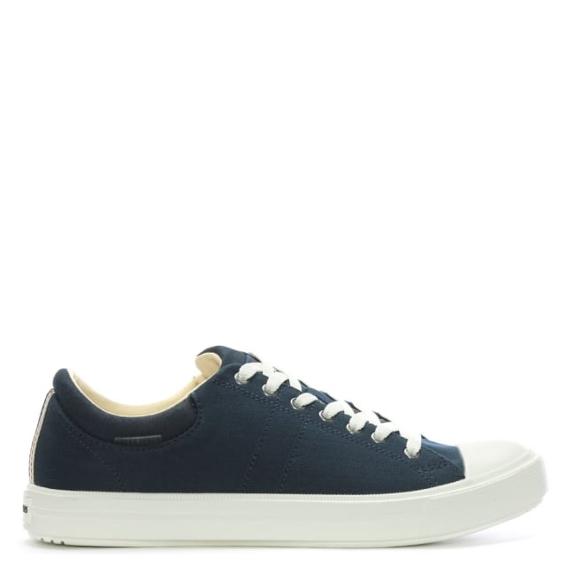 Jack & Jones Mervin Navy Canvas Lace Up Trainers