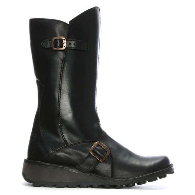 Mes-Black-Leather-Low-Wedge-Calf-Boots