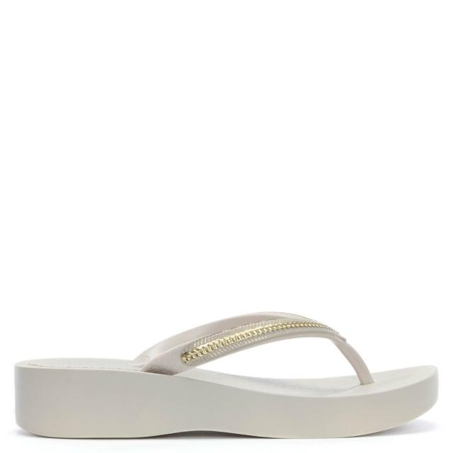 a526234d6 Ipanema Mesh White Wedge Flip Flops