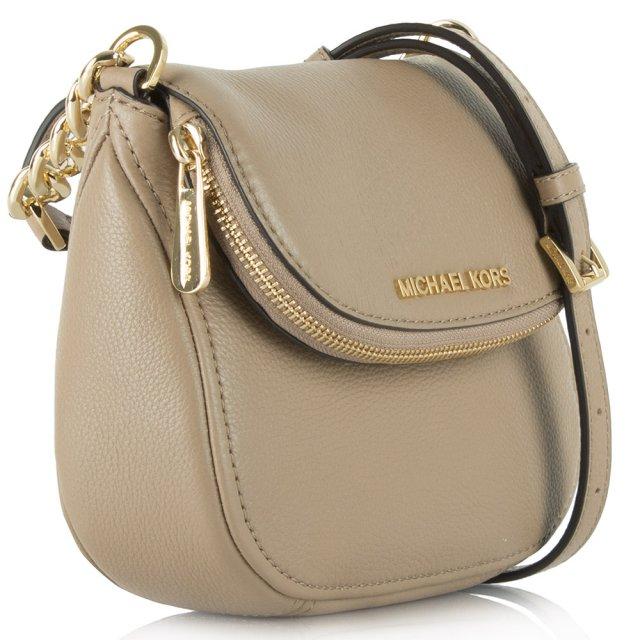 355ad8b27ae3 Michael Kors Beige Leather Bedford Flap Crossbody Bag