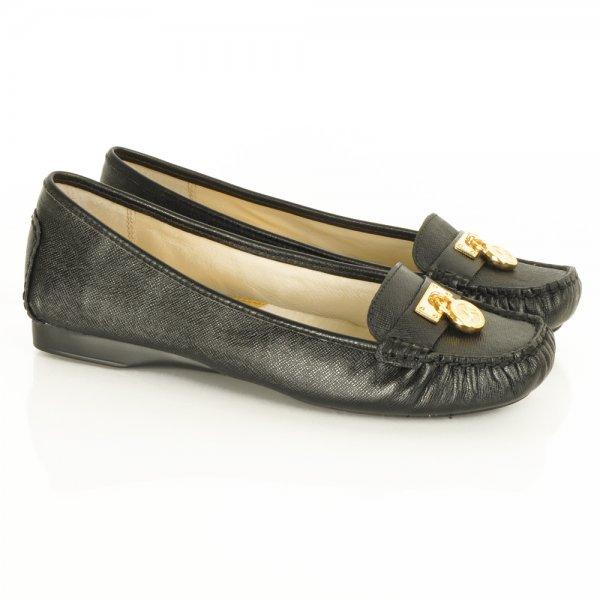 cf9fcbcd798 Michael Kors Black Hamilton Loafer Women s Flat Shoe