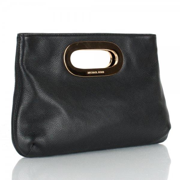87c55d0c99 Michael Kors Black Leather Berkley Clutch Womens Bag