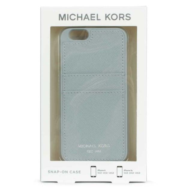 big sale e80fb 6128d iPhone 6 Dusty Blue Saffiano Leather Phone & Card Case