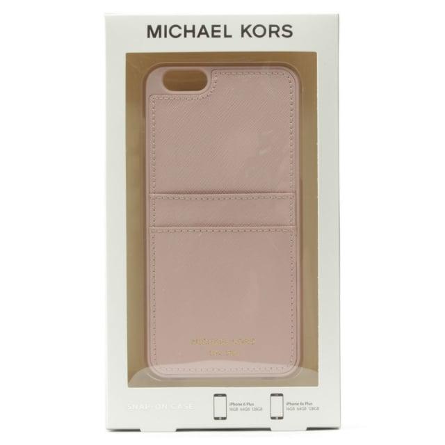 official photos e2085 74dfc iPhone 6 Plus Pale Pink Saffiano Leather Smartphone Case