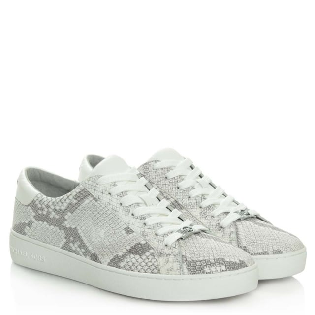 345dfecb4cc Michael Kors Irving Lace Up Natural Reptile Trainer