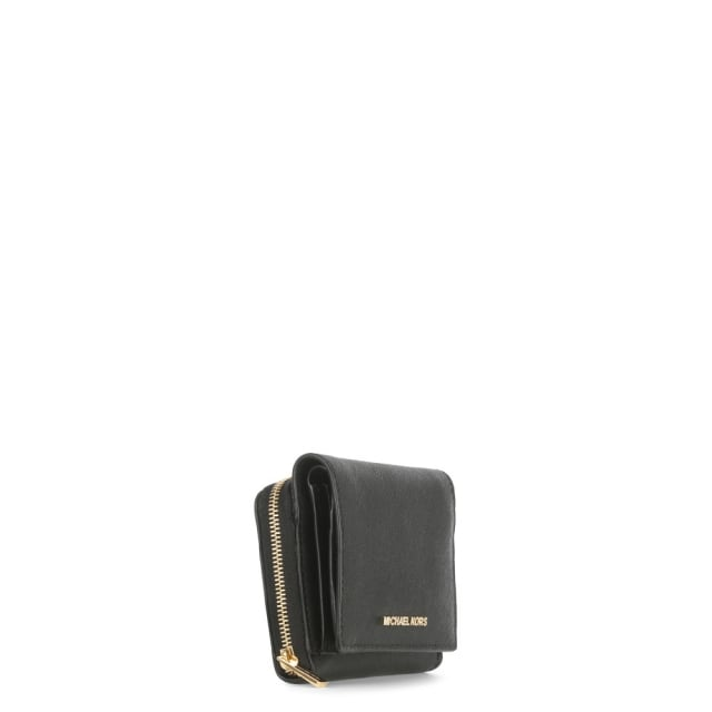 99dfe51d1c1a Michael Kors Jet Set Travel Black Saffiano Leather Billfold Wallet